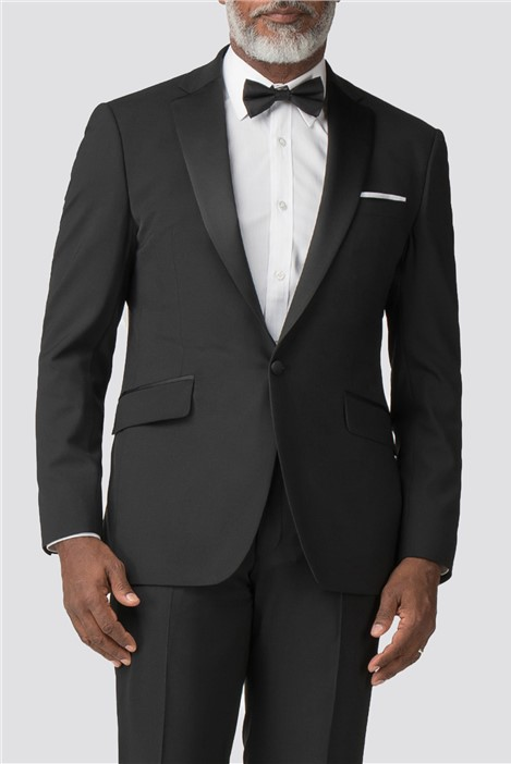 Racing Green Black Regular Fit Tuxedo