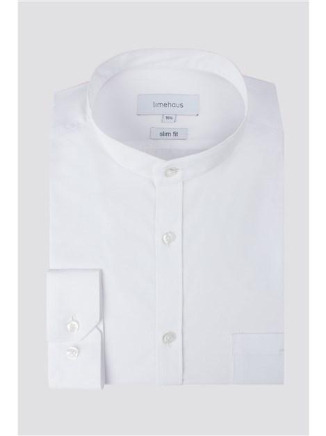 Limehaus White Grandad Collar Shirt