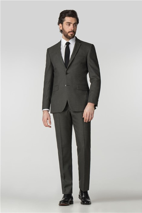 Clearance Green Twill Regular Fit Suit