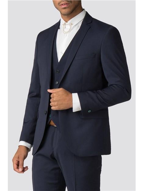 Without Prejudice Farenheit Navy Wool Blend Suit