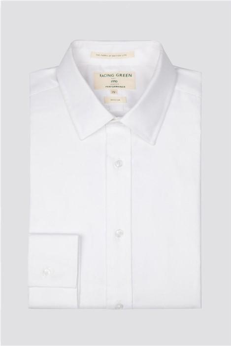 Racing Green White Twill Performance Regular Fit Shirt
