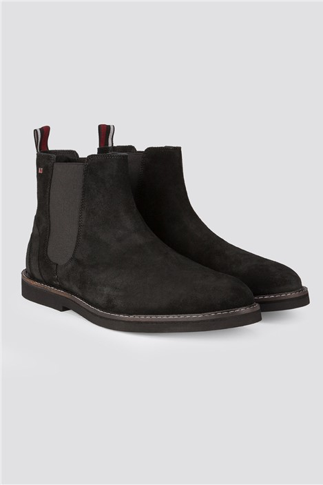 Ben Sherman Black Langley Suede Ankle Boot