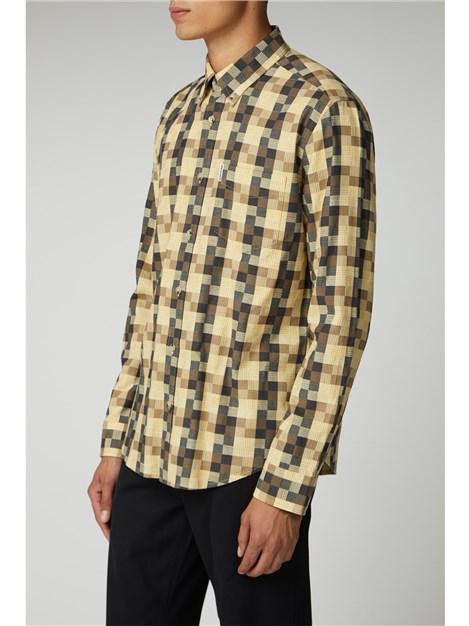 Ben Sherman Long Sleeve Textured Check Shirt