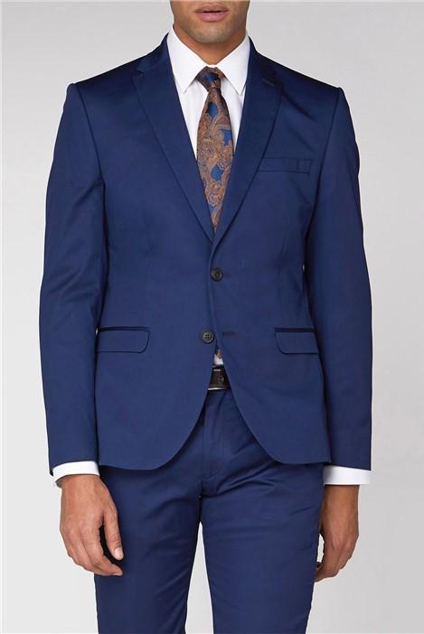 Ben Sherman Blue Cotton Camden Suit