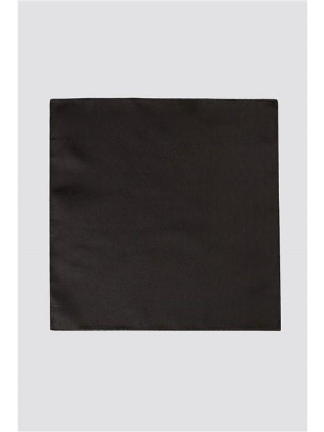 Scott & Taylor Plain Black Handkerchief
