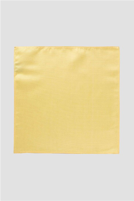 Scott & Taylor Plain Yellow Pocket Square