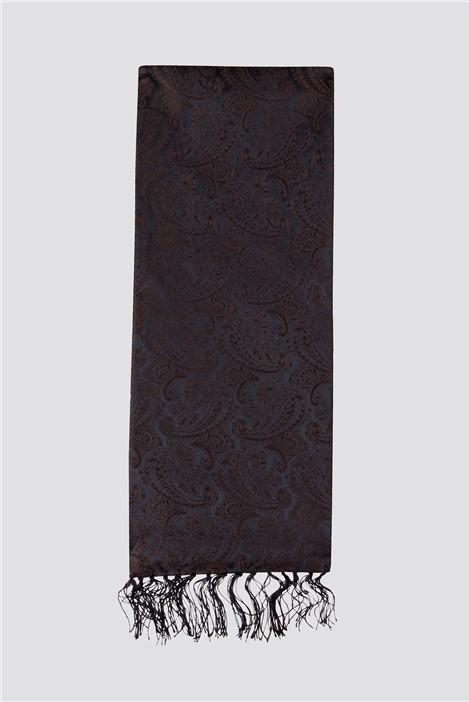 Limehaus Navy Paisley Jacquard Dress Scarf