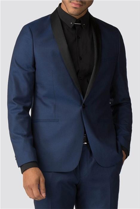 Viggo Koblenz Blue Jacquard Skinny Fit Suit