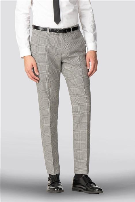 Shelby & Sons Skye Black White Check Trouser