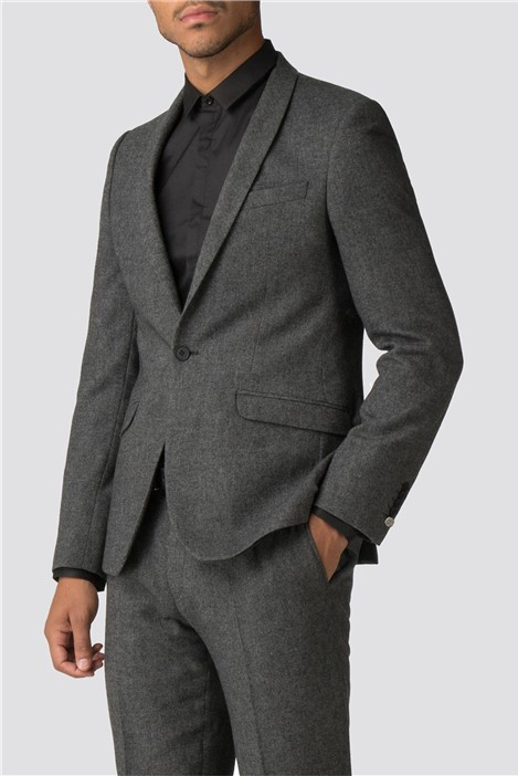 Shelby & Sons Faray Charcoal Donegal Skinny Fit Suit