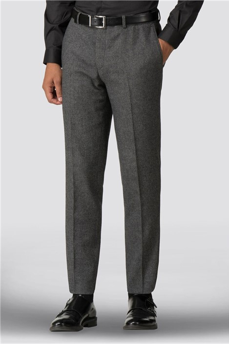 Shelby & Sons Faray Charcoal Donegal Skinny Fit Trouser