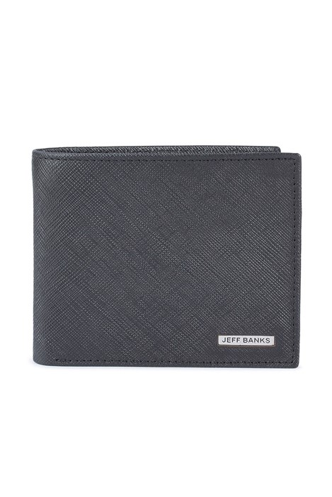 Jeff Banks Black Saffiano Wallet with Card Holder