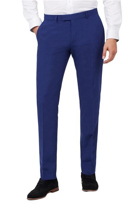Limehaus Cobalt Blue Slim Fit Suit Trousers