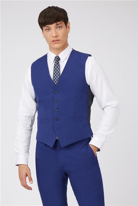 Limehaus Cobalt Blue Slim Fit Waistcoat