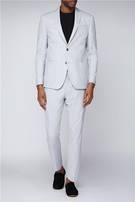 Limehaus Grey Marl Linen Blend Slim Fit Suit