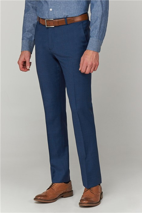 Racing Green Blue Jaspe Textured Trousers