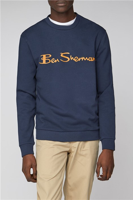 Ben Sherman Navy Logo Men's Sweatshirt