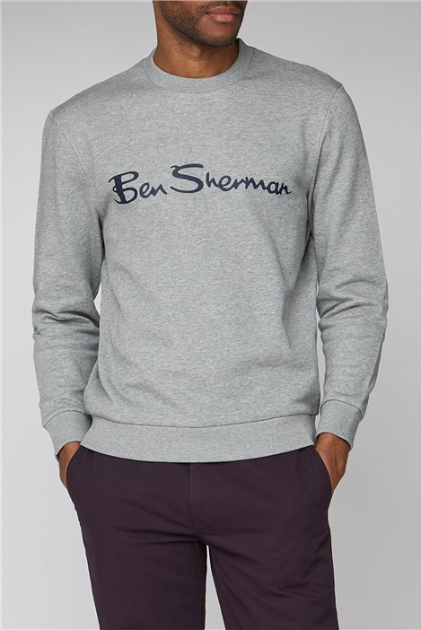 Ben Sherman Grey Logo Men's Sweatshirt
