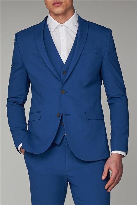 Ben Sherman Rich Blue Skinny Fit Suit