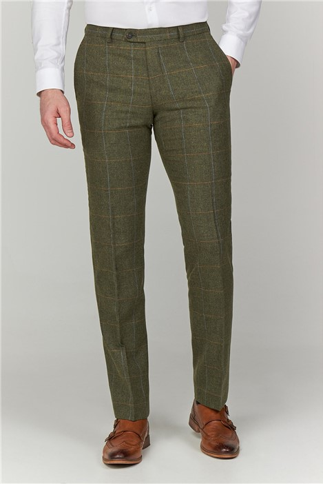 Racing Green Green Heritage Check Tailored Fit Trousers