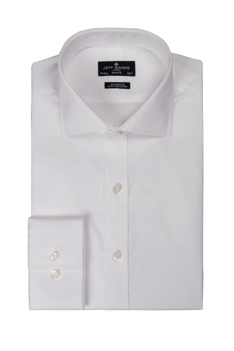 Jeff Banks White Single Cuff Cutaway Shirt
