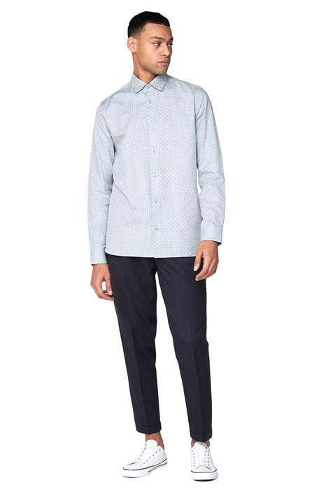 Ben Sherman Long Sleeve Geometric Oxford Shirt