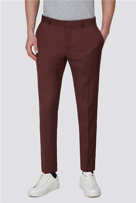 Red Herring Teracotta Plain Slim Crop Trousers