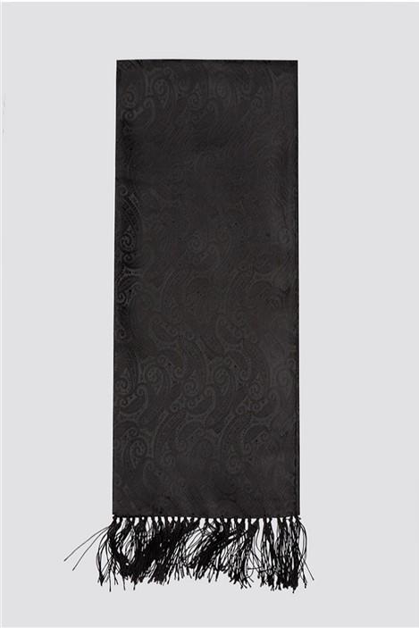 Limehaus Black Jacquard Dress Scarf