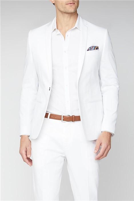 Viggo Malmo Skinny Fit Men's White Suit