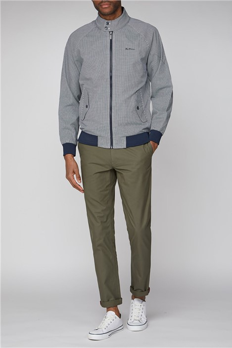 Ben Sherman Navy Check Fashion Harrington