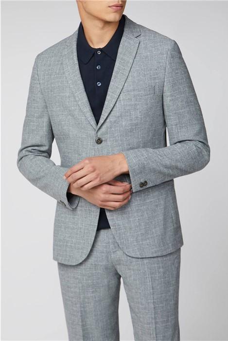 Ben Sherman Light Grey Broken Check Suit
