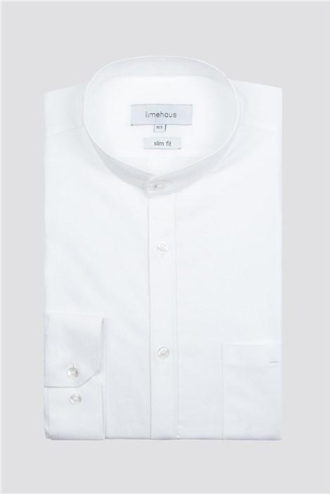 Limehaus White Granded Collar Shirt