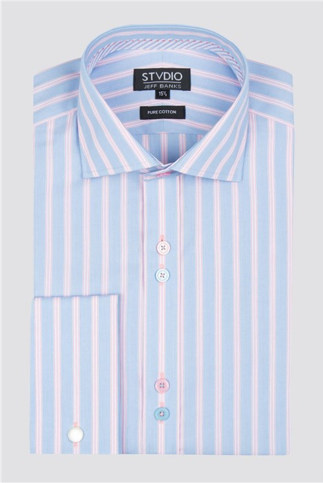 Stvdio Pink Business Stripe Shirt