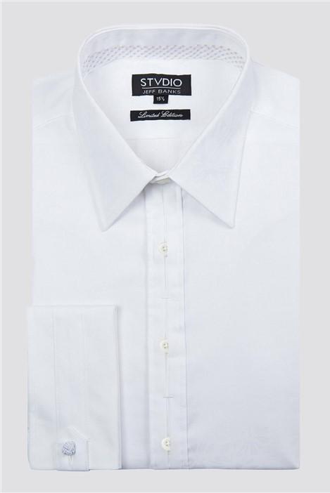 Jeff Banks Stvdio White Jacquard Shirt