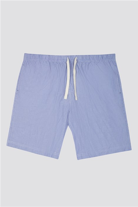 Men's Striped Cotton Loungewear Shorts