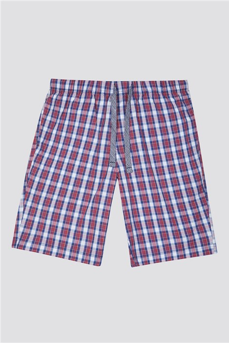 Racing Green Cotton Poplin Check Loungewear Shorts