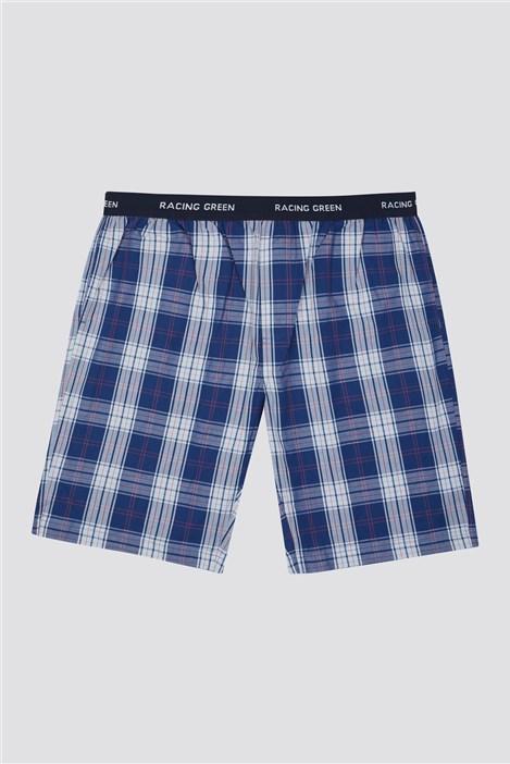 Racing Green Cotton Poplin Check Loungewear Short