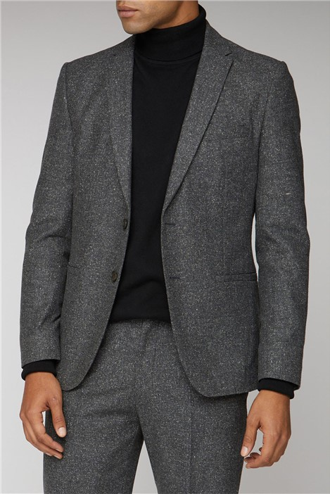 Ben Sherman Charcoal Speckle Unstructured Camden Suit
