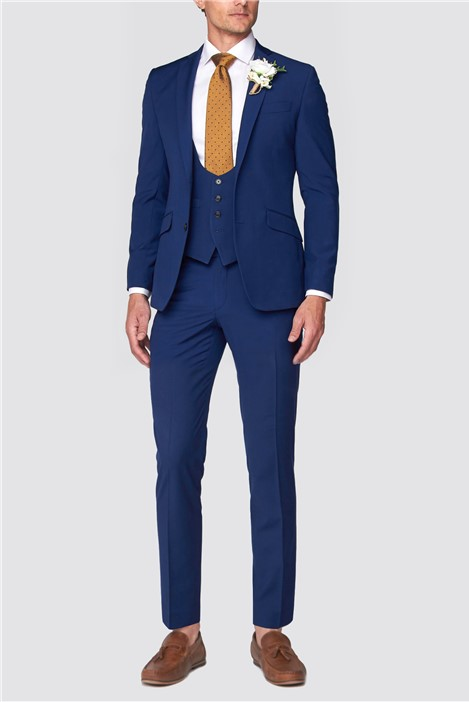 Occasions Blue Wedding Tailored Fit Suit Trousers