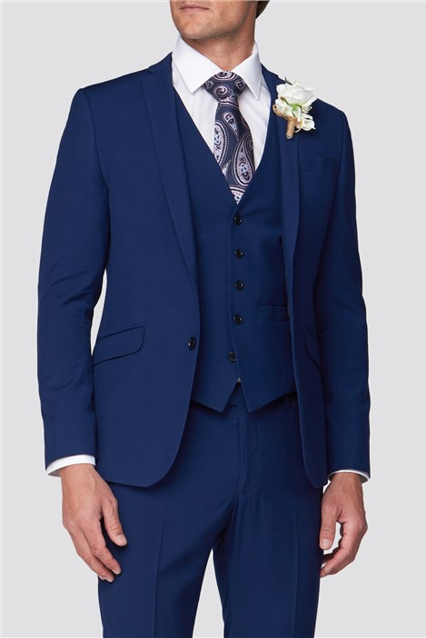 Occasions Blue Wedding Skinny Fit Suit