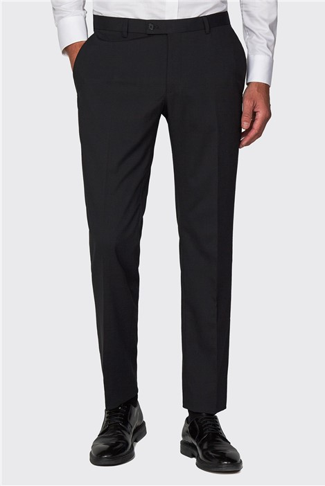 Racing Green Black Plain Formal Tailored Trousers