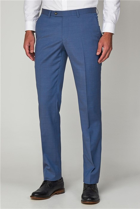 Racing Green Pale Blue Formal Tailored Trousers