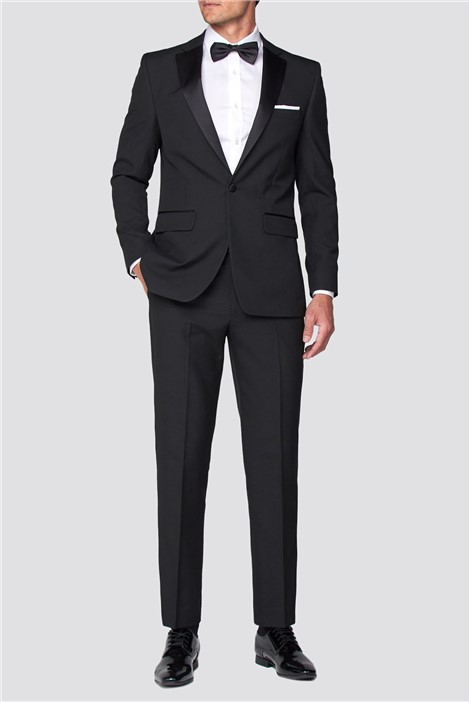 Occasions Black Regular Fit Tuxedo Suit