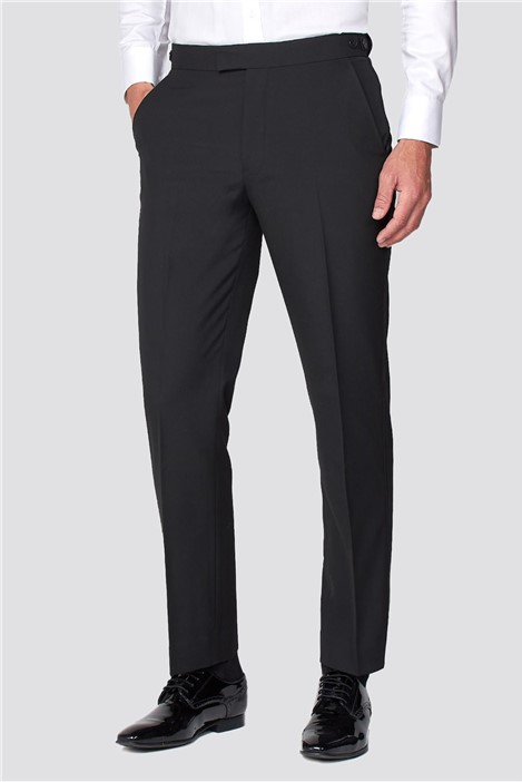 Occasions Black Regular Fit Tuxedo Trousers