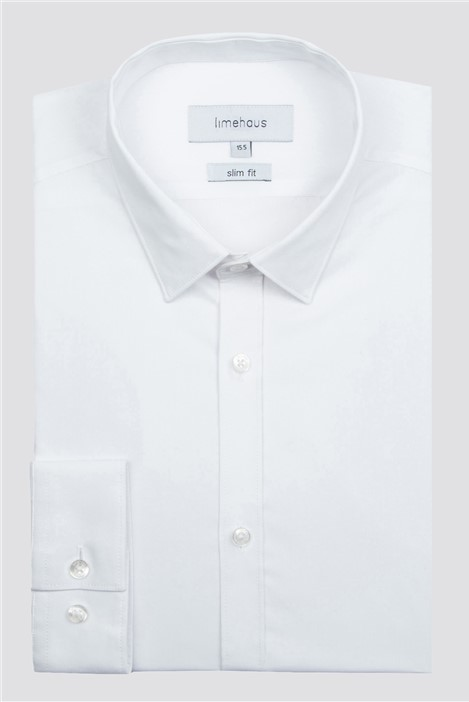 Limehaus White Single Cuff Shirt