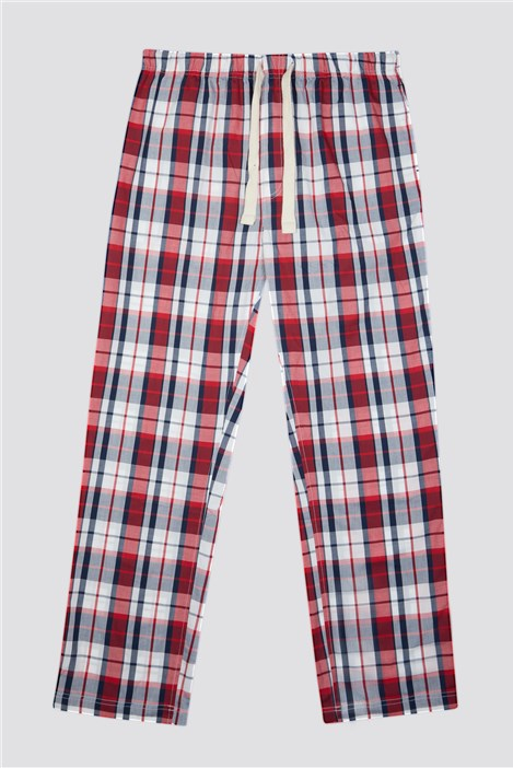 Racing Green Red Check Loungewear Pant
