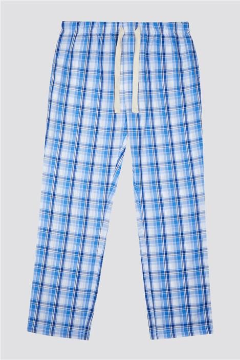 Racing Green Blue Check Loungewear Pant
