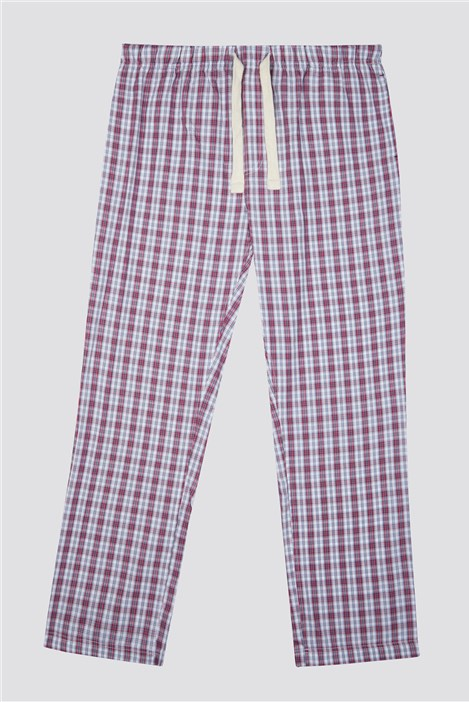 Racing Green Pink Check Loungewear Pant