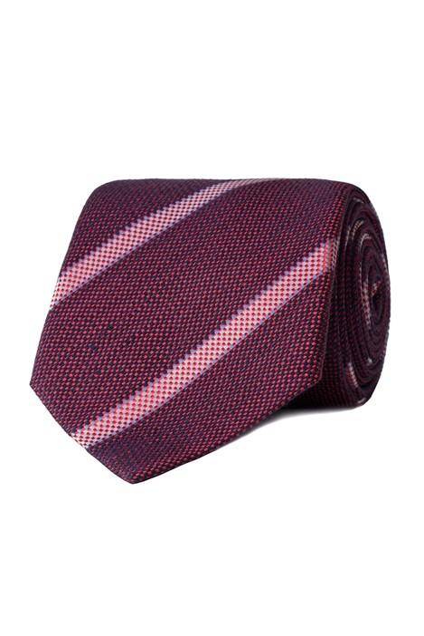 Jeff Banks London Red Textured Stripe Tie