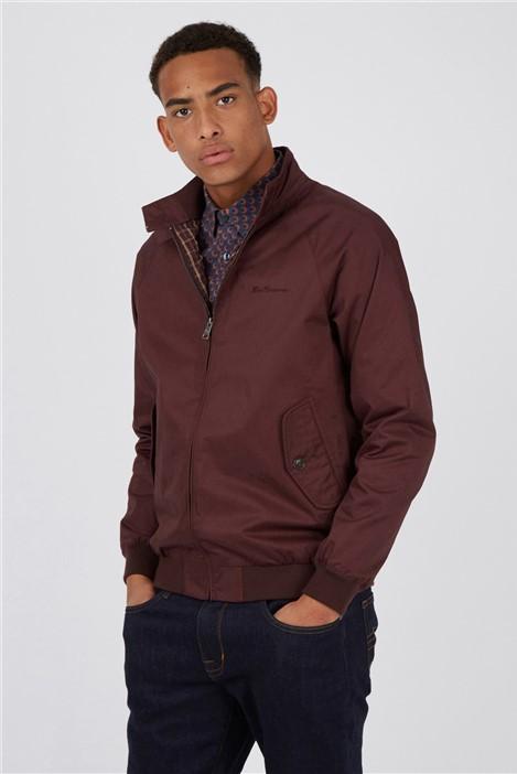 Ben Sherman Bordeaux Signature Harrington Jacket